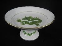 Tortenplatte mit Fuss grüner Drache