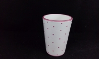 Saftbecher rosa Tupfen  Gmundner Keramik rote Tüpferl rot