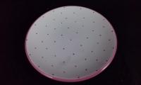 Unterteller d: 15 cm rosa Tupfen Gmundner Keramik Für Tassen