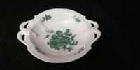 Schale mit Griffen 16,5 cm Rosenthal grüne Blume