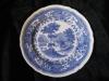großer Speiseteller, flacher Teller 25 cm Burgenland blau