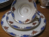 Teegedeck Rosenthal RC Kronach Elfenbein blaues Dekor