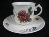 Kaffeetasse mit Unterteller Bouquet