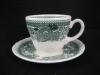 Kaffeegedeck Kaffeetasse mit Unterteller Burgenland grün