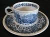Teetasse mit Unterteller Blue Castle