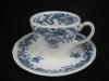 Kaffeegedeck Kaffeetasse mit Unterteller und Kuchenteller Valeria blau