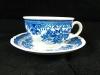 Teetasse mit Unterteller Fasan blau