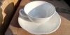 Teetasse mit Unterteller Dekor Arco weiß