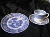 Kaffeegedeck Kaffeetasse mit Unterteller und Kuchenteller Burgenland blau