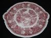 Kuchenplatte rund mit Griffen Burgenland rot