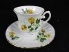 Seltmann Weiden China Royal gelbe Rose Kaffeetasse mit Unterteller